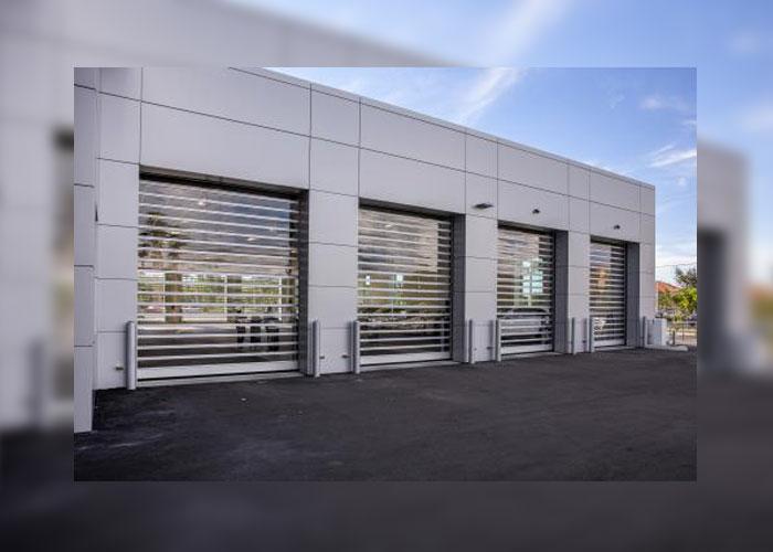 RYTEC Spiral® FV® High Performance, Full Vision Rigid Rolling Door